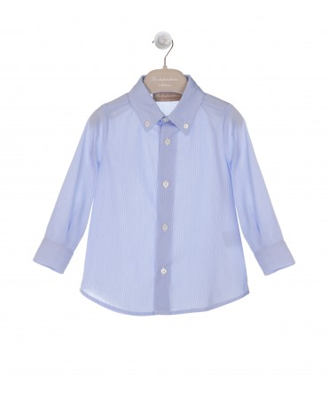 LIGHT BLUE STRIPED BUTTON DOWN SHIRT