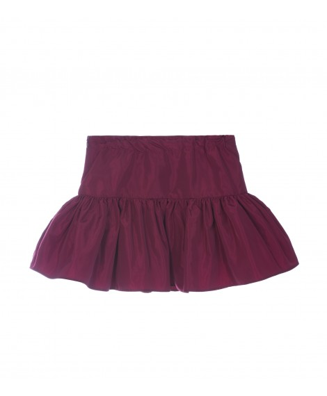 BORDEAUX RUFFLE SKIRT