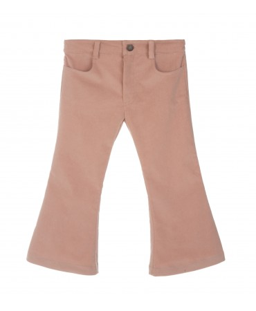 PINK CORDUROY FLARED PANTS