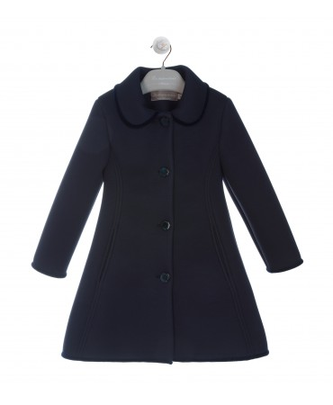 CAPPOTTO BORDATO BLU