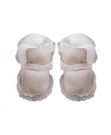 Baby white eco sheepskin boots