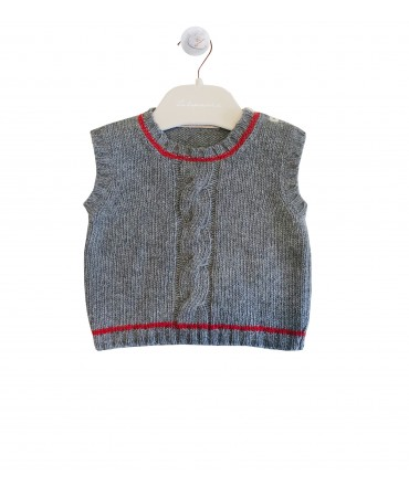Grey and red waistcoat