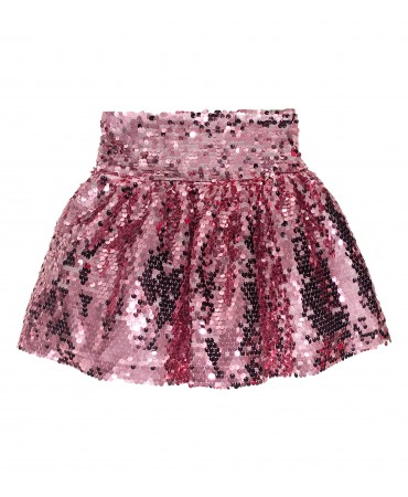Gonna in paillettes rosa