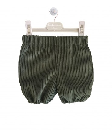 Green corduroy bloomers