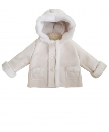 White eco sheepskin jacket