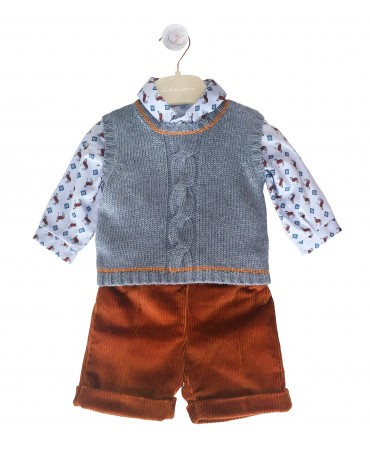 Knitted blue waistcoat