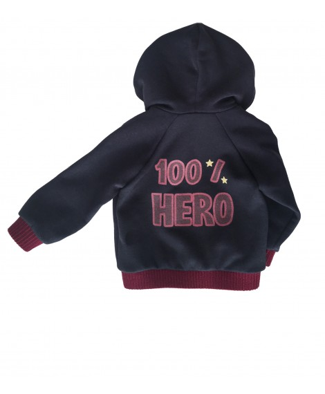 Navy hoody 100%HERO