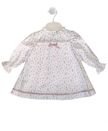 Baby dress with pink flowers