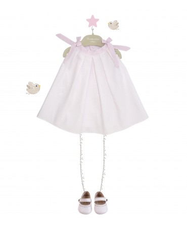 PINK DRESS WITH BLOOMERS