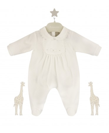 white romper with embroideries