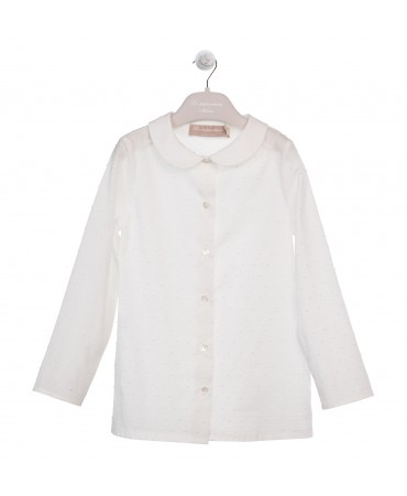 SHIRT WITH ROUNDED COLLAR