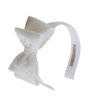 HEADBAND WITH LATERAL DOUBLE BOW