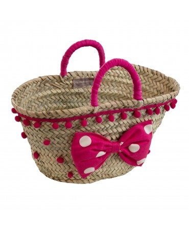 STRAW BAG WITH BOW